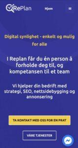 Mobilvennlig nettside RePlan