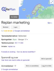 Ting å tenke på ved seo replan google my business